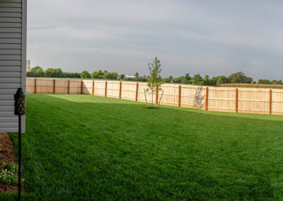 Schneider Custom Homes backyard