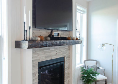 fireplace and tv display