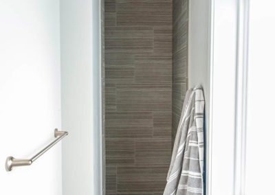 shower entrance in Schneider Custom Home