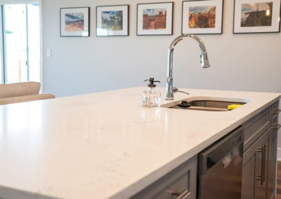 kitchen countertop with sink