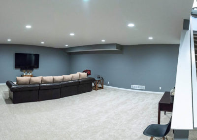 Schneider Custom Homes movie theater room